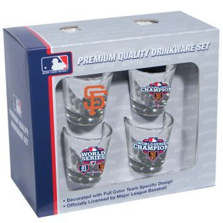 San Francisco Giants 2012 MLB World Series Champions 4 Pack Shot