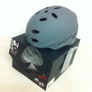 Pro Tec Ace Skate Bike Helmet Matte Gray Youth Small Bucky Lasek