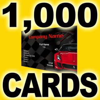 1000 Business Cards Printed Full Color 1 side 4 1 Semi Gloss AQ coated