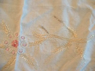 Vintage Early PA Dutch Bucks Co PA Round Needle Point Table Cloth Hand
