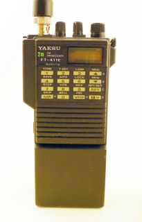 Yaesu FT 411E HT 2m Amateur Radio Transceiver with Accessories