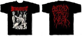 Devourment CD cvr Butcher The Weak Official Shirt Med New