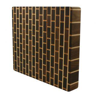 Kobi Brick Wall Butcher Block Wood Cutting Board 27 Sizes 1 5 Thick