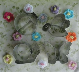 Recipe Butter Cookie Cutters Lady Bug Butterfly Honey Bee Snail
