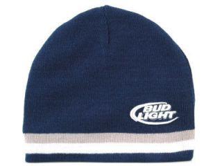 Budweiser Bud Light Beer Hat Cap  Knit Winter Mens Ski