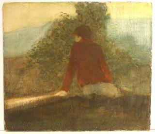 Harry Buckley PA 1963 Impressionist Painting Philadelphia Artist