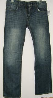 Buffalo David Bitton Driven Straight Leg Jeans 34x32