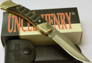 Schrade Uncle Henry Bear Paw Buffalo Horn Skinning Hunting Lockback