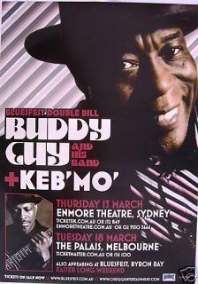 Buddy Guy KebMO 2008 Australian Concert Tour Poster