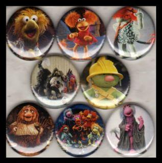 "Fraggle Rock 8 1"" Buttons Badges Jim Henson Muppets"