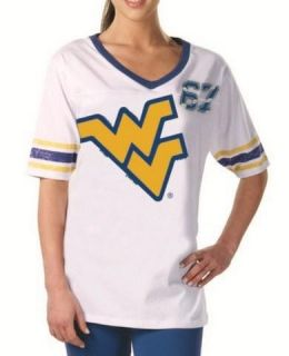 West Virginia Mountaineers Womens Jersey Tunic Shirt