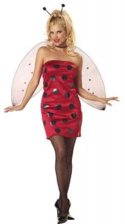 Women Sexy Lady Bug Insect Halloween Adult Costume