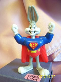 BUGS BUNNY as SUPER BUNNY collectible toy figure 1991 warner bros