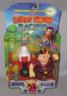 1999 Toy Biz Nintendo Diddy Kong Racing Wiz Pig Factory SEALED New