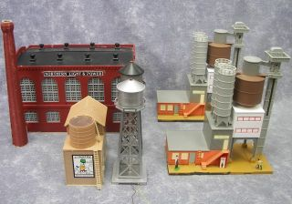 HO Model Buildings Power Plant Warehouse Concrete Plant Water Tower