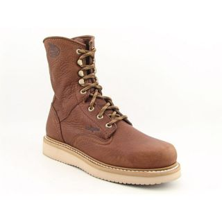 Georgia G8152 8 Wedge Mens Size 11 Brown Boots Work Leather Work