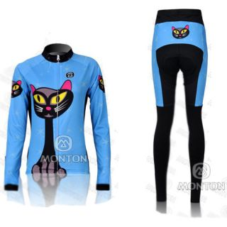 New Cycling Bicycle Outdoor Women Long Sleeves Jersey Pants s XL
