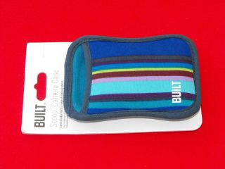BUILT NY Scoop Camera Case. Blue Stripes. ABSOLUTELY BRAND NEW IN
