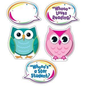 Colorful Owl Talkers Bulletin Board Setnew Classroom Decorative
