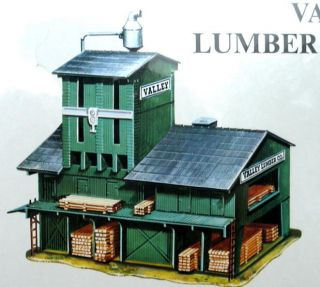 HO Scale Trains Valley Lumber Mill Building Kit