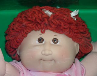 Cabbage Patch Kids Doll Iola Heather March 10 Red Head Curly Hair