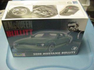 2008 Bullitt Ford Mustang Revell 1 25 Model Kit New