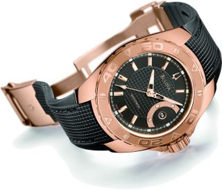 Bulova Accutron Mens Curacao Rose Gold Plated Automatic Watch Model