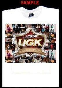 UGK Custom T Shirt Tee Bun B Pimp C Rap Hip Hop 393