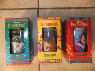Disney Pocahontas Cups Burger King Collectible Set of 3