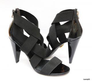 New $250 Pour la Victoire *CAITLIN Elastic Crossup Strappy Sandal Heel