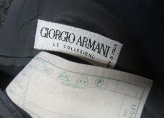 description giorgio armani 46r wool gray blazer single breasted three