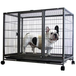 Kennel w Wheels Portable Pet Puppy Carrier Crate Cage Heavy Duty NEW