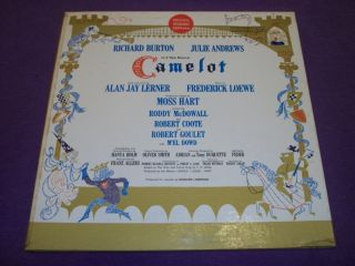 Camelot Richard Burton Julie Andrews Kol 5620 RARE LP