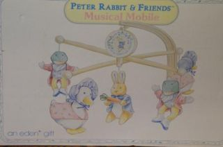 EDEN BEATRIX POTTER PETER RABBIT & FRIENDS MUSICAL CRIB MOBILE