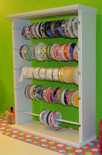 Ribbon Rack 125 Spool for 4 5 inch White Black or Natural
