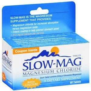 Slow Mag A Dietary Supplement Magnesium Chloride 60 Ct
