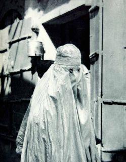 Muslim Islam Woman Burka Burqa Costume India Dress Portrait Art