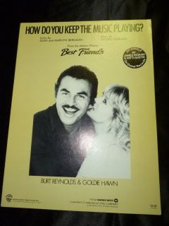 Best Friends Movie Sheet Music Burt Reynolds Goldie Hawn How Keep