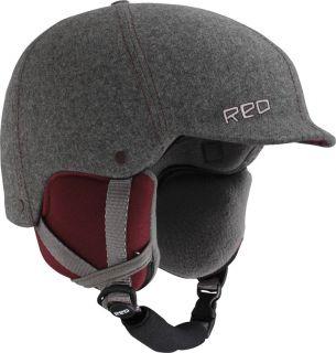 Red Mutiny II Snowboard Helmet 2012 Grey Fabric Burton Red Gray
