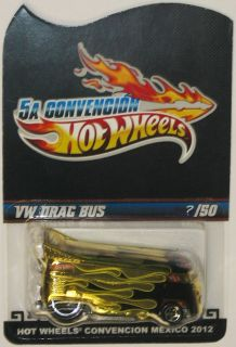 VW DRAG BUS Hot Wheels 2012 Mexico Convention Only 50 Made. RARE