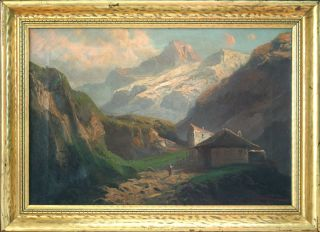 Landscape of Italian Alps Oil by California painter John E Califano