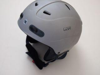 Burton RED snowboard helmet gray boys girls youth m l medium large