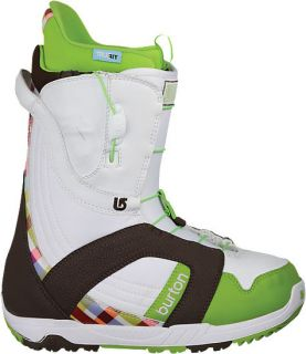 NEW WOMENS BURTON MINT SNOWBOARD BOOTS WHITE/BROWN/GREEN/ 7.5