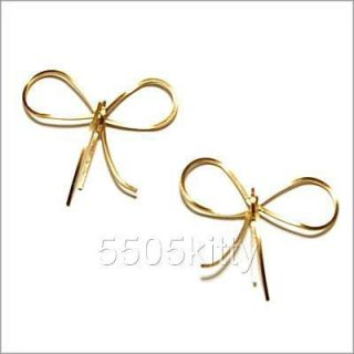 By Boe 14k Gold Filled Reminder Bow Post Earrings