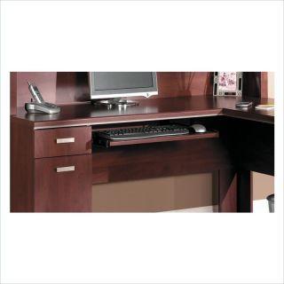 Bush Furniture Tuxedo L Home Office Set w Hutch Hansen Cherry Computer