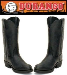 New Durango Mens Tar Black 12 Leather Western Boots