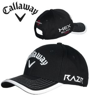 Callaway 2012 Tour Mesh Adjustable Cap Hat Black Mens One Size Fits