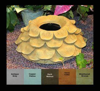 Flower Petal Gazing Globe Ball Stand Cement Collar