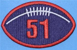Dick Butkus Chicago Bears NFL Retirement Hall of Fame Patch NFL
