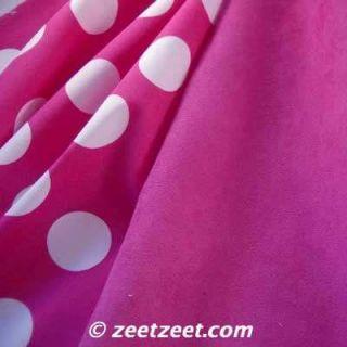 Robert Kaufman Pimatex Basics Big Polka Dot Hot Pink White Fabric yd